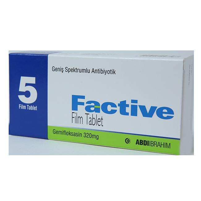 Фактив (Гемифлоксацин) таблетки 320мг №5