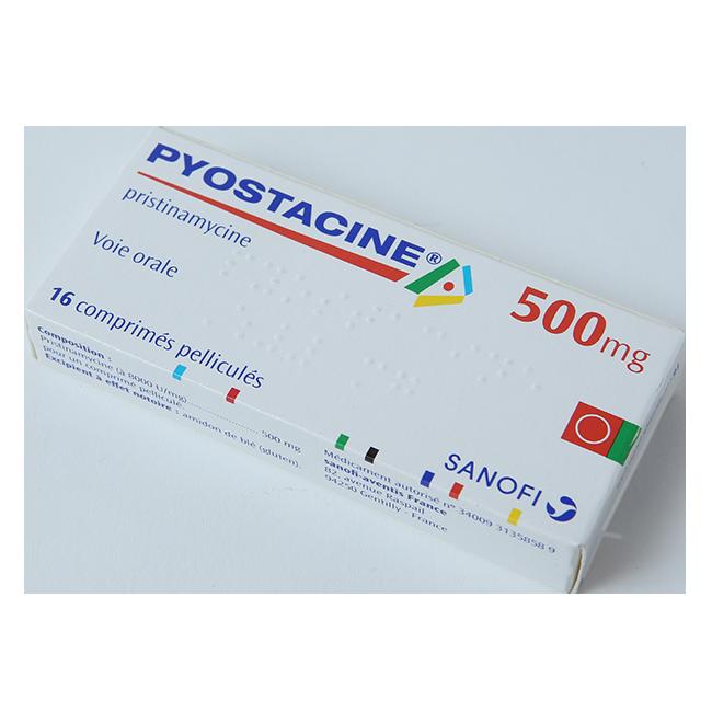 Пиостацин (Пристинамицин) табл. 500мг №16