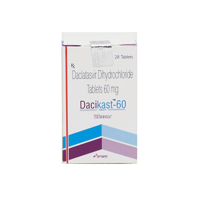 Даклатасвир (аналог Даклинза) DaciHep таблетки 60мг №28