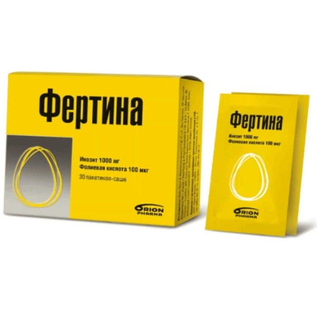 Фертина Инозит и Фолиевая кислота пакетик-саше 3г №30