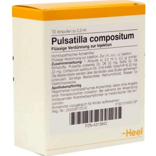 Пульсатилла композитум (Pulsatilla compositum Heel) ампулы №10