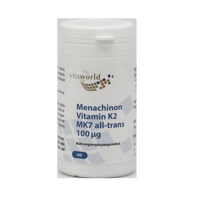 Витамин К2 (Менахинон 7) 100 мкг капсулы №60