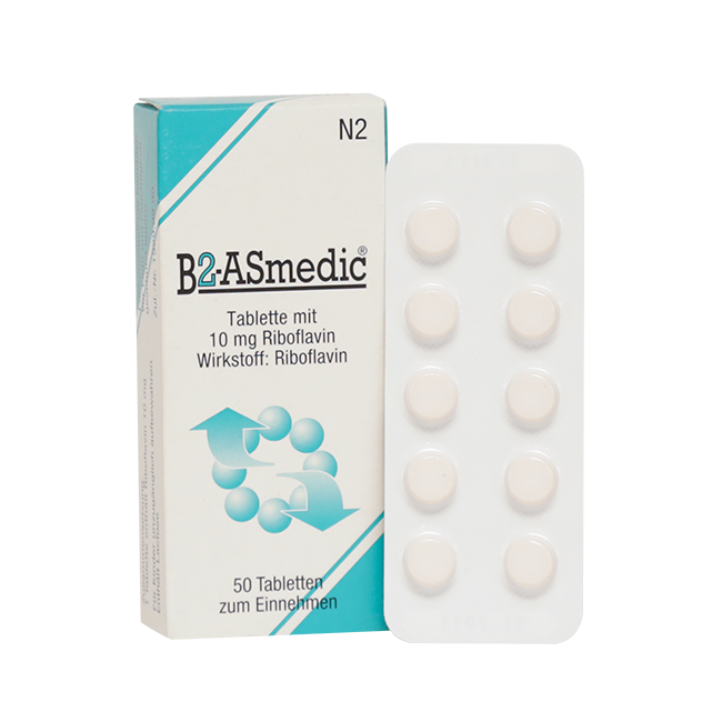 Витамин B2 (Рибофлавин, Riboflavinum) таб 10мг №50