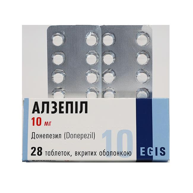 Алзепил (Донепезил) таблетки 10мг №28
