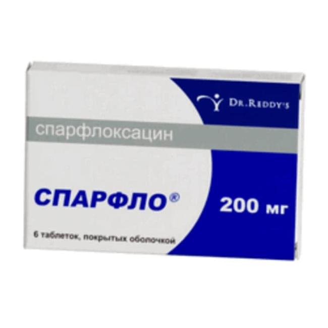 Спарфлоксацин Spar (Флоксимар, Спарфло) табл. 200мг №6