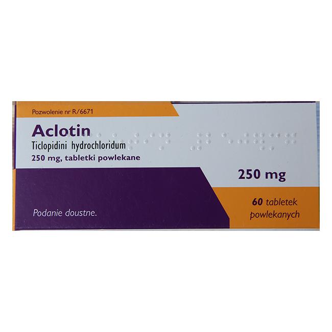 Аклотин (Тиклопидин, Тикло, Тиклид) таб. 250мг №60