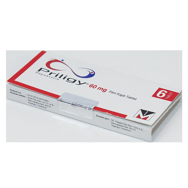 Прилиджи (Priligy) Дапоксетин таблетки 60мг №6